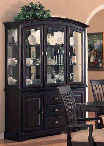 Cappuccino Finish Classic Arched Buffet With Hutch | Furniture .