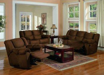 Good Chocolate Brown Microfiber Contemporary Reclining Living Room. Living Room  Furniture